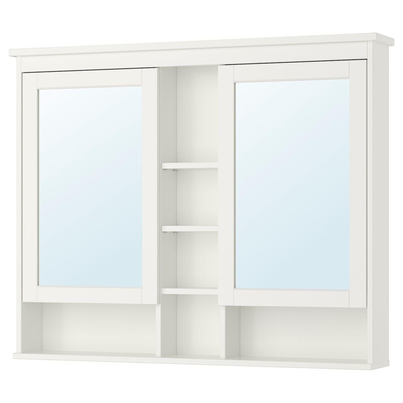 HEMNES Spiegelschrank 20 Türen   weiß 200x20 cm