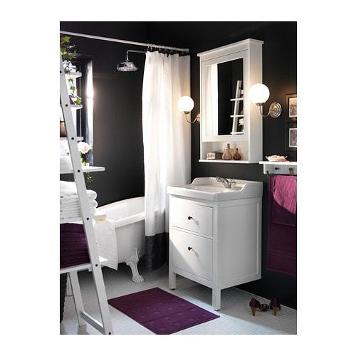 Spiegelschrank mit beleuchtung ikea  HEMNES Spiegelschrank 1 Tür - weiß - IKEA