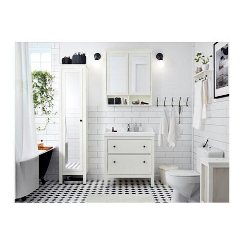 HEMNES Spiegelschrank 2 Türen - weiß, 83x16x98 cm - IKEA | {Spiegelschrank mit beleuchtung ikea 37}
