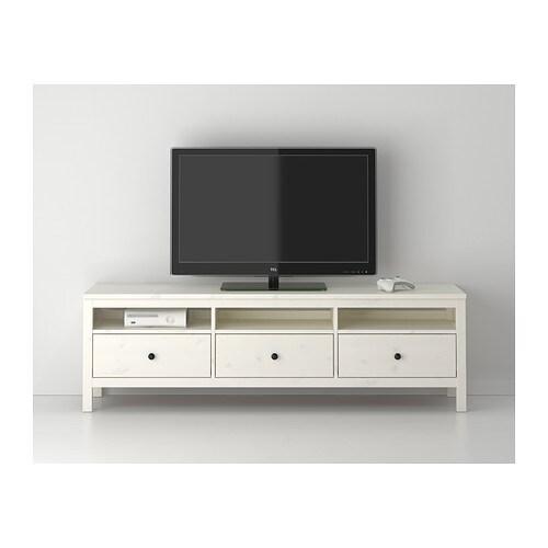Tv bank ikea  HEMNES TV-Bank - weiß gebeizt - IKEA