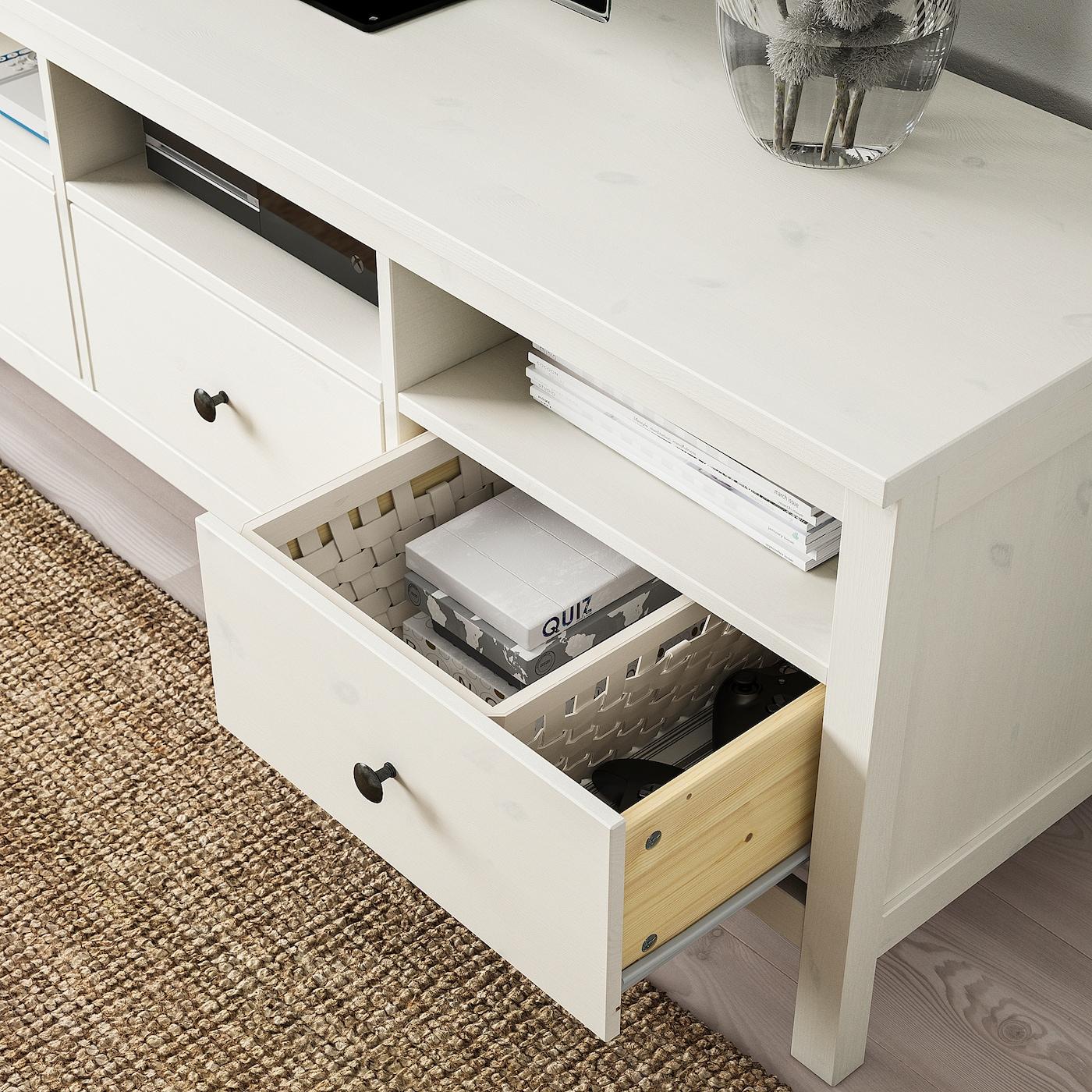 Hemnes Tv Bank Weiss Gebeizt Ikea Deutschland