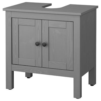 HEMNES Waschbeckenunterschrank, 2 Türen, grau las., 60x38x63 cm
