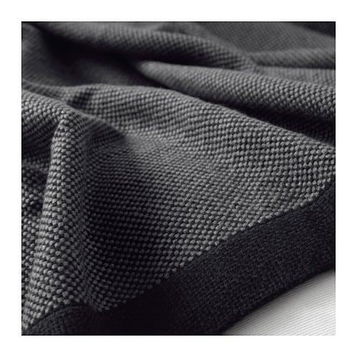 ikea tagesdecke 120x180 cm decke kuscheldecke plaid berwurf wolldecke schwarz ebay. Black Bedroom Furniture Sets. Home Design Ideas