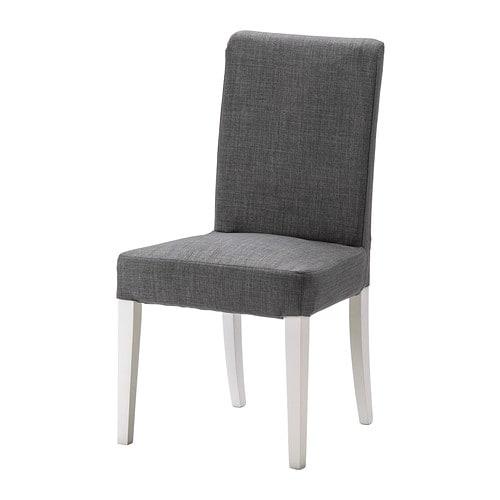 HENRIKSDAL Stuhl , weiß, Skiftebo dunkelgrau