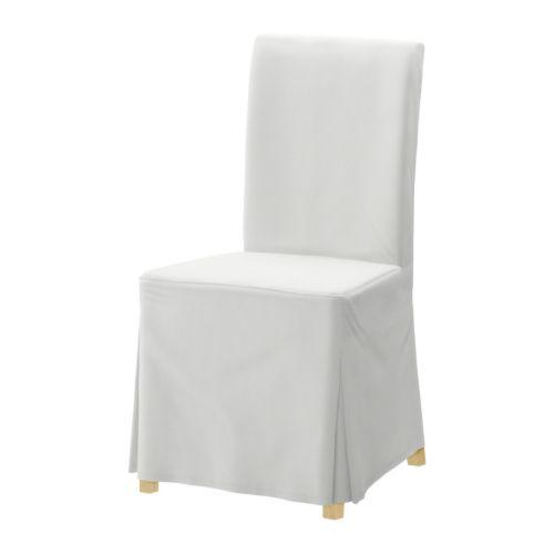 henriksdal stuhl mit langem bezug blekinge wei birke ikea. Black Bedroom Furniture Sets. Home Design Ideas