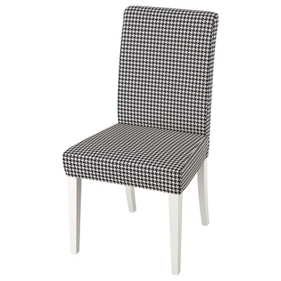 HENRIKSDAL Stuhl, weiß/Vibberbo schwarz/beige