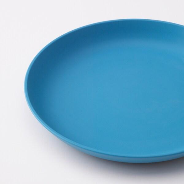 HEROISK Dessertteller, blau/hellrot, 19 cm