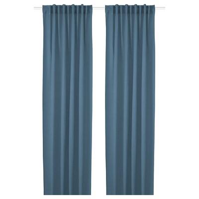 HILJA 2 Gardinenschals blau 300 cm 145 cm 0.70 kg 4.35 m² 2 Stück