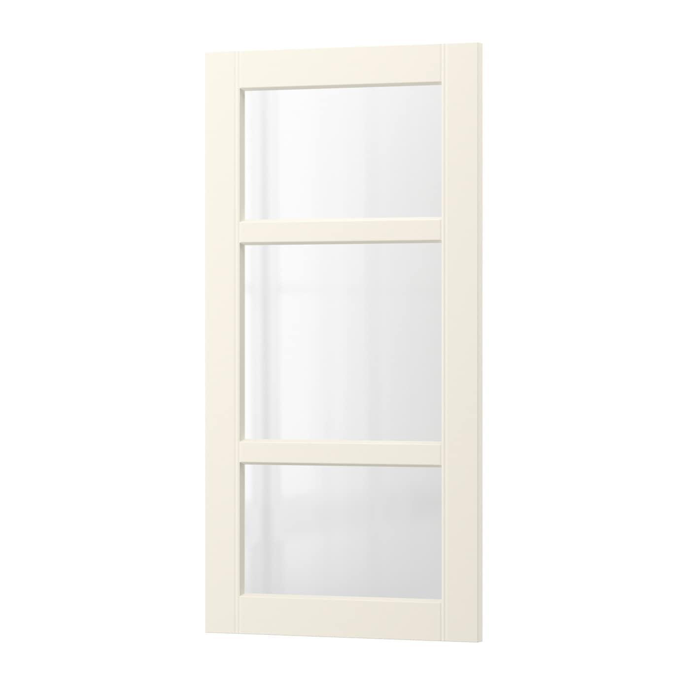 BODBYN Vitrinentür - elfenbeinweiß, 40x80 cm - IKEA