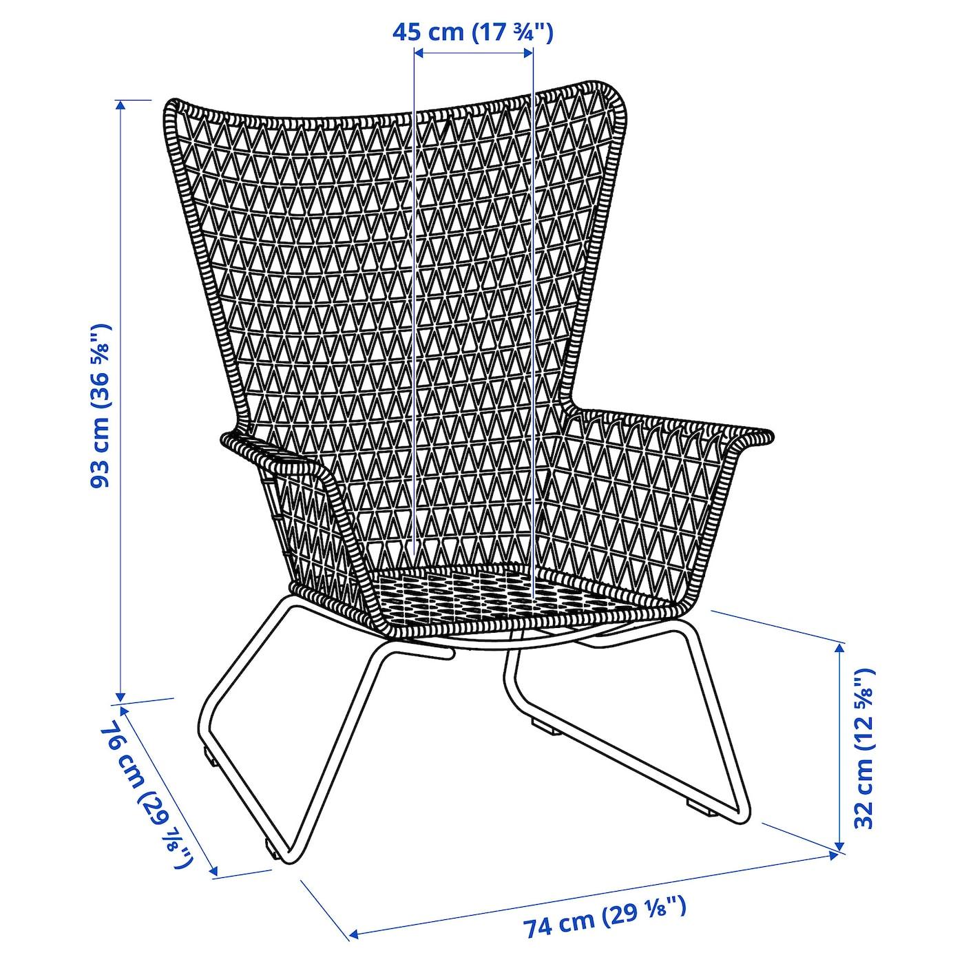 HÖGSTEN Sesselaußen weiß
