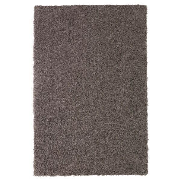 HÖJERUP Teppich Langflor, graubraun, 120x180 cm