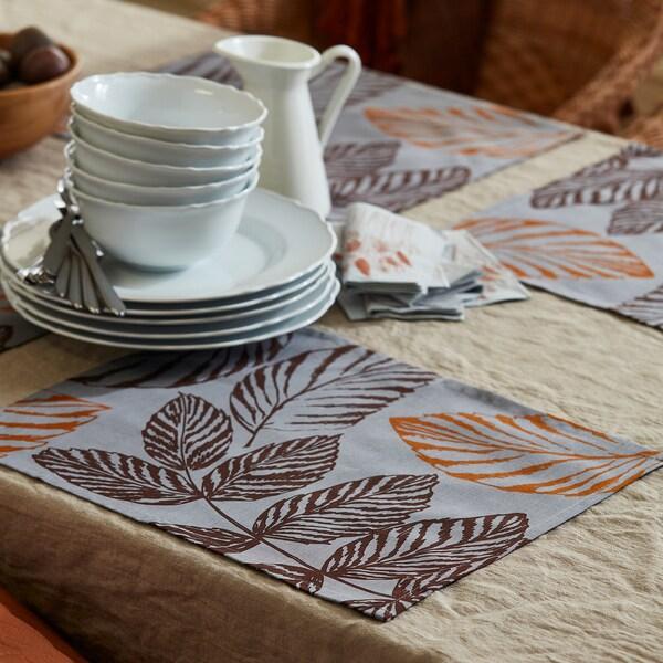 HÖSTKVÄLL Tischset, grau, 35x45 cm