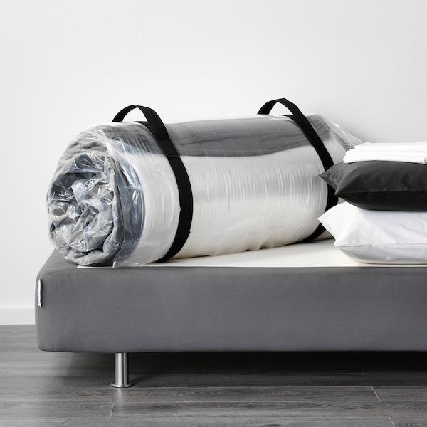 HÖVÅG Taschenfederkernmatratze, mittelfest/dunkelgrau, 140x200 cm