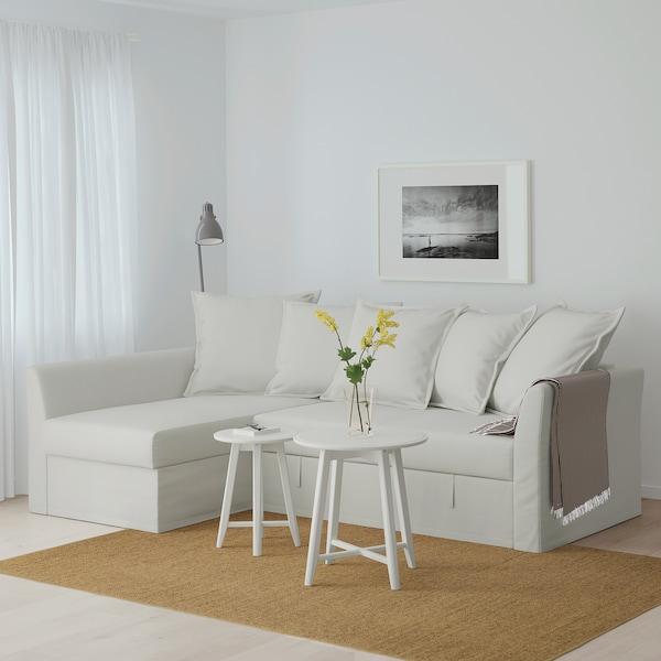 HOLMSUND Eckbettsofa, Orrsta hell weißgrau