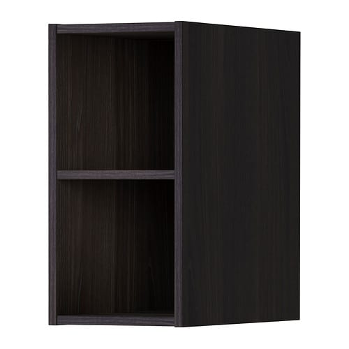 h rda regal holzeffekt schwarz 20x37x40 cm ikea. Black Bedroom Furniture Sets. Home Design Ideas