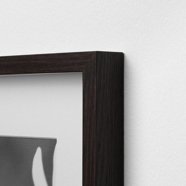 HOVSTA Rahmen, dunkelbraun, 61x91 cm