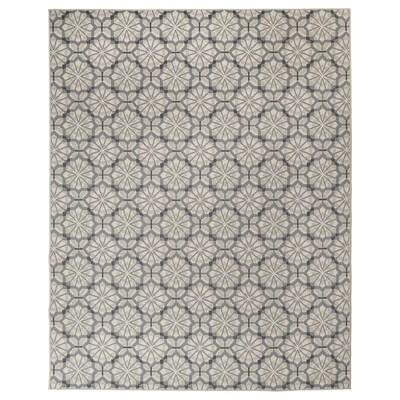 HUNDSLUND Teppich flach gewebt, drinnen/drau, grau/beige, 200x250 cm