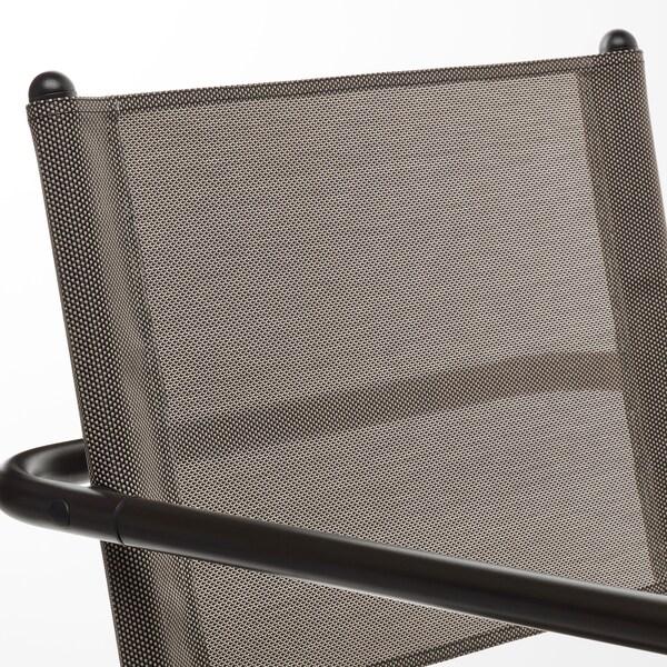 HUSARÖ Armlehnstuhl/außen, dunkelgrau