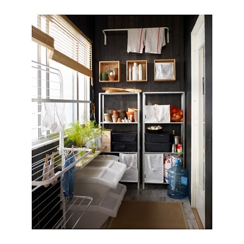 ikea lagerregal regal steckregal kellerregal werkstattregal metallregal 140x60cm ebay. Black Bedroom Furniture Sets. Home Design Ideas