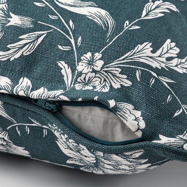 IDALINNEA Kissenbezug, blau/weiß/geblümt, 50x50 cm