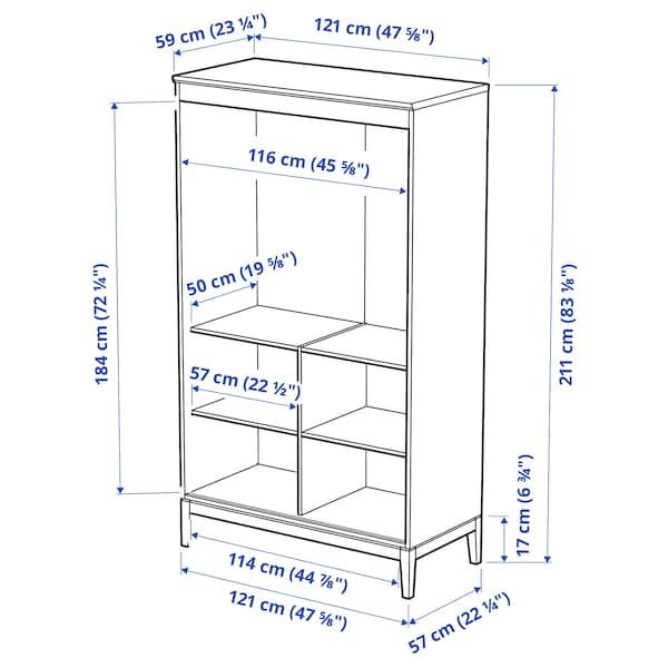 IDANÄS Kleiderschrank, weiß, 121x211 cm