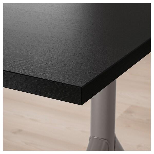 IDÅSEN Schreibtisch, schwarz/dunkelgrau, 160x80 cm
