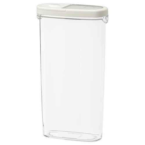 IKEA 365+ Vorratsbehälter mit Deckel transparent/weiß 17 cm 8 cm 30 cm 2.3 l