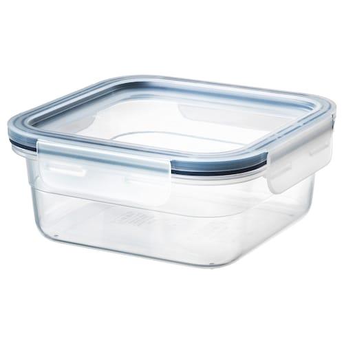 IKEA 365+ Vorratsbehälter mit Deckel quadratisch/Kunststoff 15 cm 15 cm 7 cm 750 ml