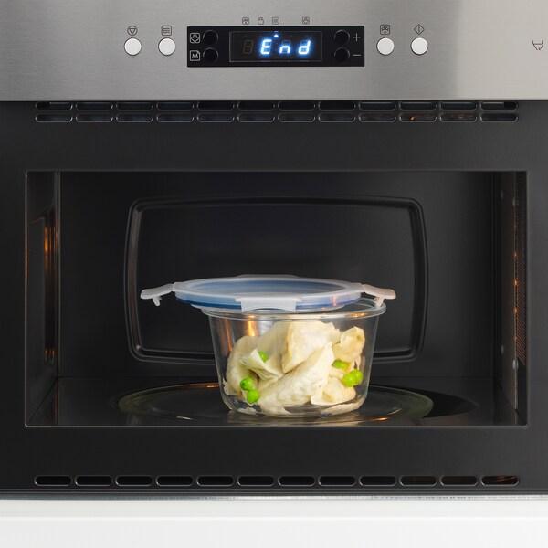 IKEA 365+ Vorratsbehälter mit Deckel rund Glas/Kunststoff 9 cm 14 cm 600 ml