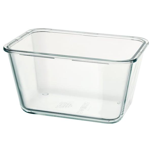 IKEA 365+ Behälter, rechteckig/Glas, 1.8 l