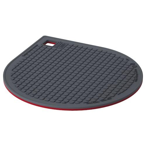 IKEA 365+ GUNSTIG Topfuntersetzer magn. rot/dunkelgrau 21 cm 18 cm