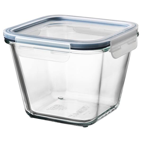 IKEA 365+ Vorratsbehälter mit Deckel, quadratisch Glas/Kunststoff, 1.2 l