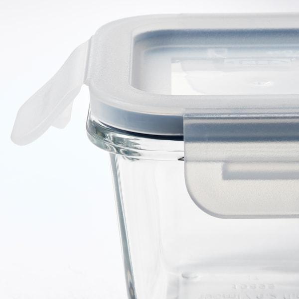 IKEA 365+ Vorratsbehälter mit Deckel, quadratisch/Glas, 180 ml
