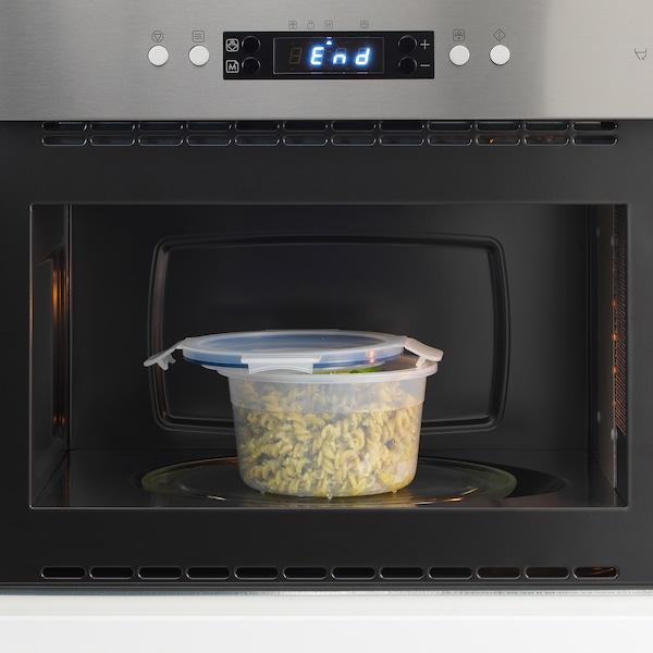 IKEA 365+ Vorratsbehälter mit Deckel, rund/Kunststoff, 750 ml