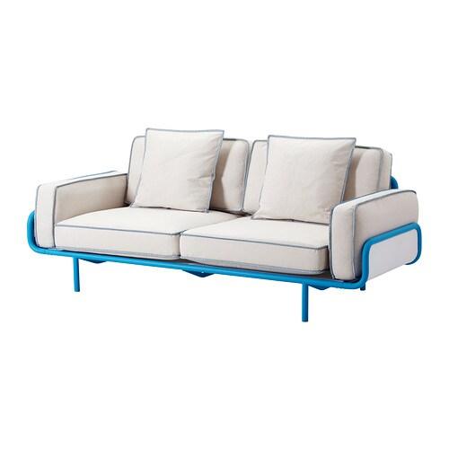 IKEA PS 2012 3er-Sofa - blau/Svanby beige - IKEA