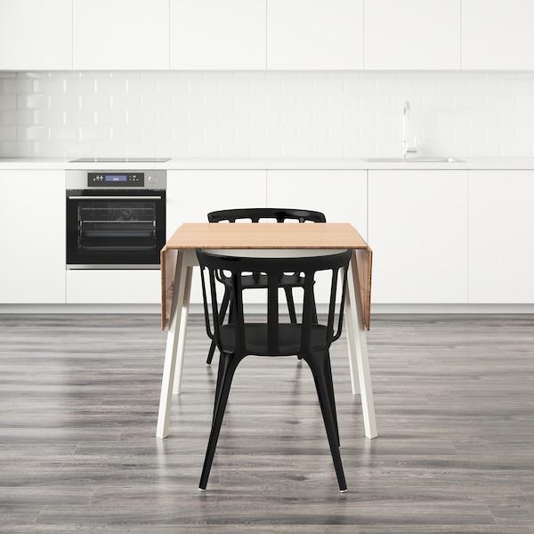 IKEA PS 2012 / IKEA PS 2012 Tisch und 2 Stühle, Bambus/schwarz, 74 cm