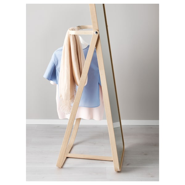 IKORNNES Standspiegel, Esche, 52x167 cm