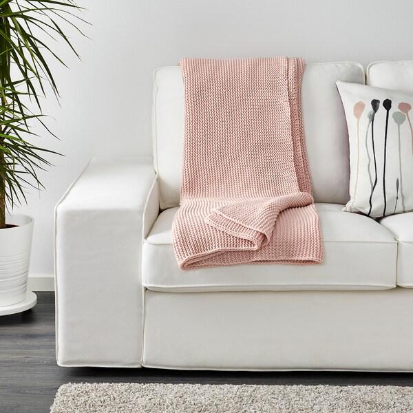 INGABRITTA Plaid, blassrosa, 130x170 cm