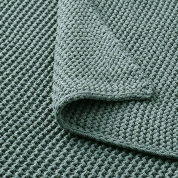 INGABRITTA Plaid, grautürkis, 130x170 cm
