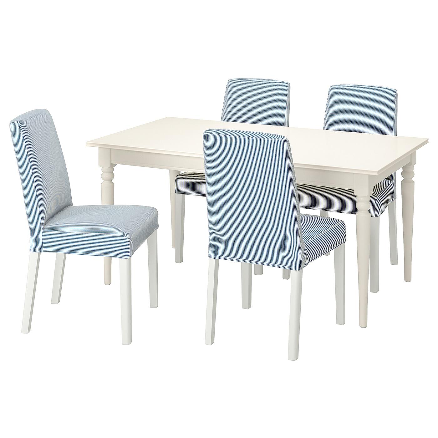 INGATORP / BERGMUND Tisch und 4 Stühle