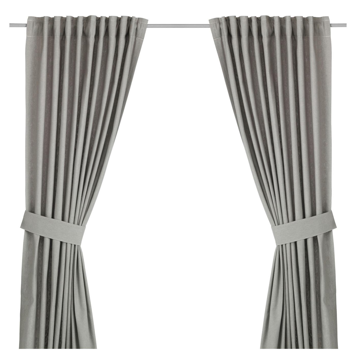 Vorhang Ikea ingert 2 gardinen raffhalter ikea