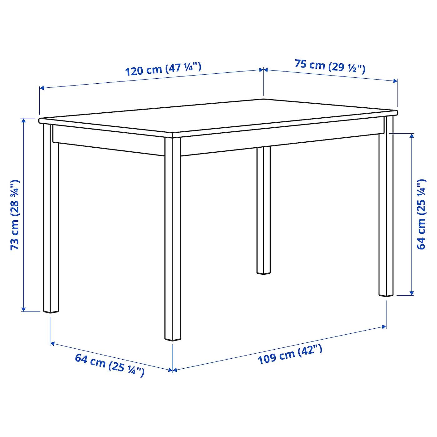 INGO Tisch Kiefer 120x75 cm