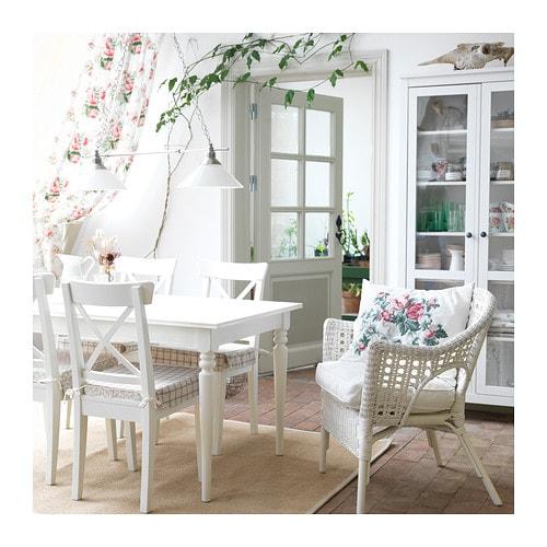 Dettagli su Ikea Sedia da Cucina in Legno Fattoria Stile Country Bianco  Nuovo Originale