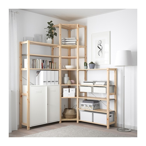 ivar 3 elem ecke ikea. Black Bedroom Furniture Sets. Home Design Ideas