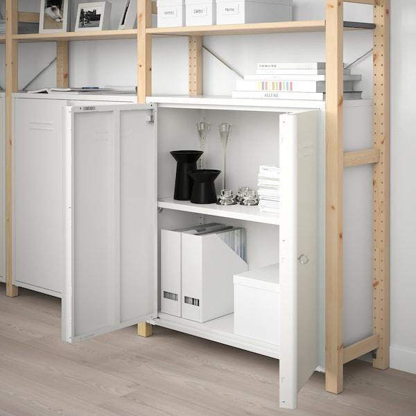 IVAR Schrank mit Türen, weiß, 80x83 cm
