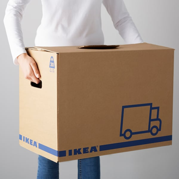 JÄTTENE Umzugskarton, braun, 56x33x41 cm