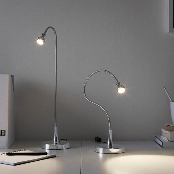 JANSJÖ Arbeitsleuchte, LED, silberfarben, 60 cm
