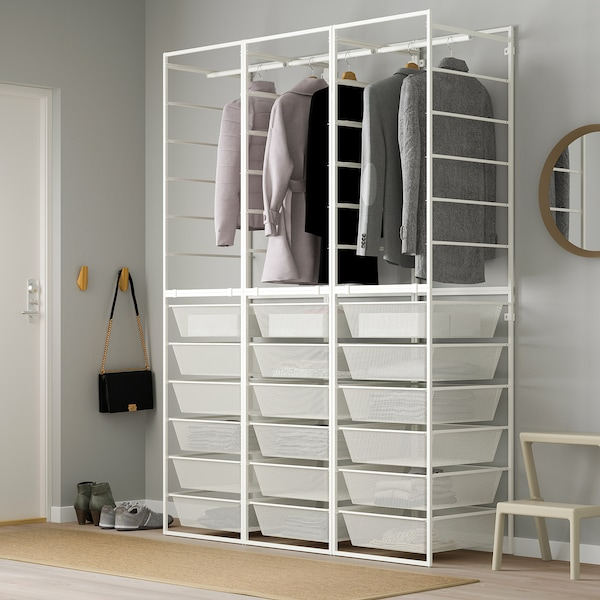 JONAXEL Schrankkombination, weiß, 148x51x207 cm