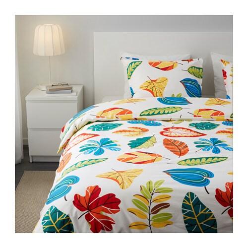 ikea jonill bettw sche 3tlg bettbezug 240 220 cm bettw scheset bun sommer neu traumfabrik xxl. Black Bedroom Furniture Sets. Home Design Ideas