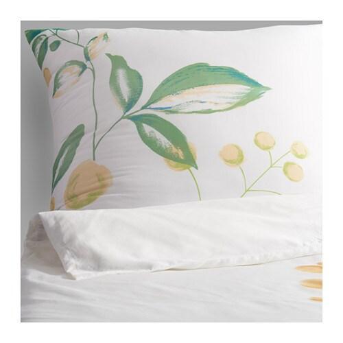 ikea julb r bettw sche set 155x220 80x80 bettbezug gr n blau gebl mt neu ebay. Black Bedroom Furniture Sets. Home Design Ideas